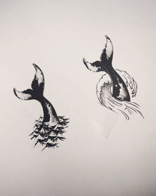 geometric tattoos Half Aquarians half Pisces