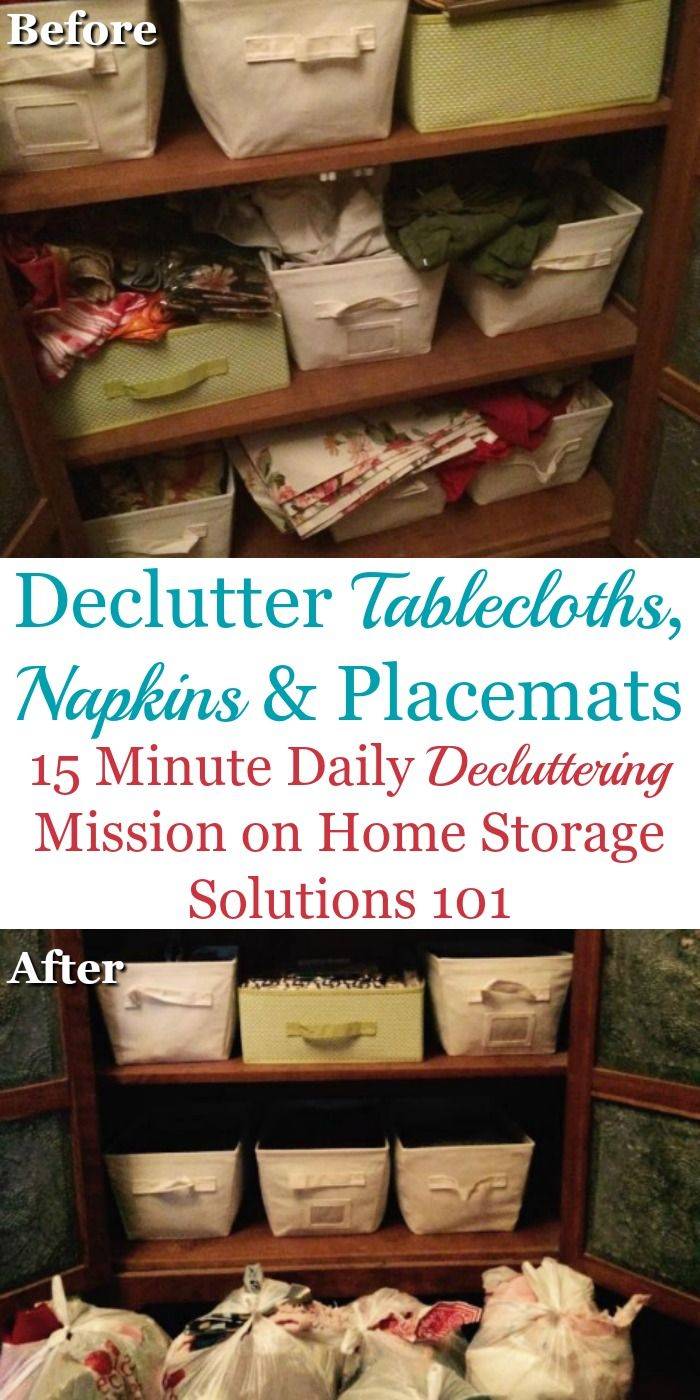 How to declutter table linens such as