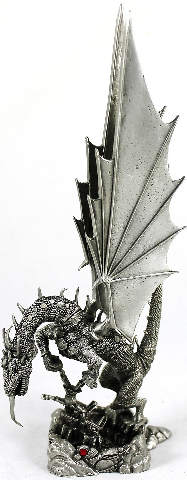 Vintage 1993 rawcliffe pewter dragon feeding man to babies sculpture rf3009 ebay dragons - Pewter dragon statues ...