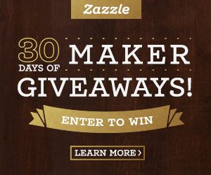 #SWEEPSTAKES 30 Days of Maker Giveaways on #Zazzle http://www.planetgoldilocks.com/USA_and_Canadian_sweepstakes.htm #Giveaways #CONTESTS #WINPRIZES