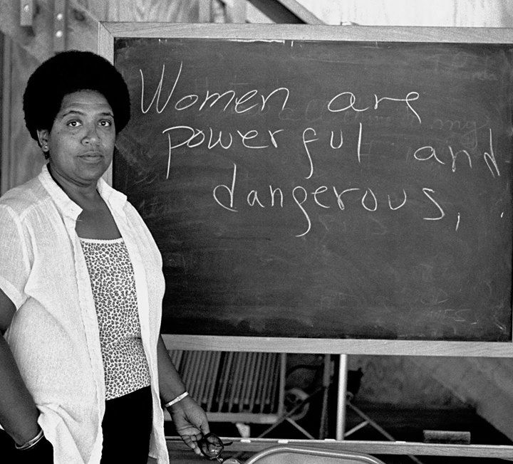 Audre Lorde: I am not free while any woman is unfree even when her shackles are very different from my own. #AudreLorde #HumanNote
