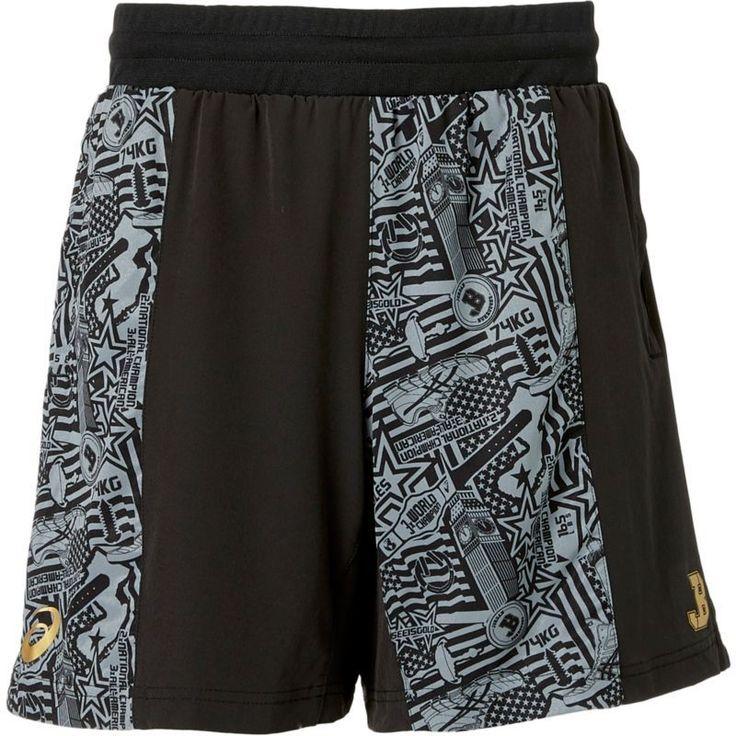 Asics Men's Jordan Burroughs 7'' Wrestling Shorts, Size: Medium, Black