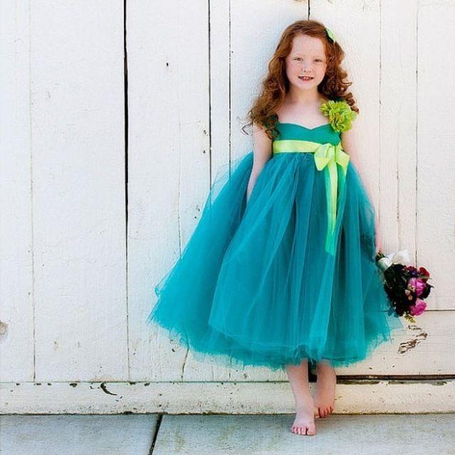 Высокое кутюр изящный бант дети конкурс красоты Flowergirls выпускного вечера детей девушек для свадебного зеленый лайм детские платья