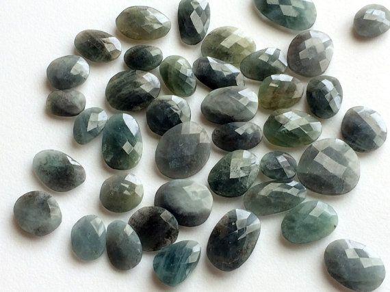WHOLESALE 10 Pcs Moss Aquamarine Gemstones Rare by gemsforjewels