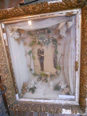 1910s wedding shadowbox