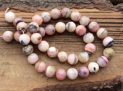 Для украшений ручной работы. Ярмарка Мастеров - ручная работа. Купить Опал Перуанский розовый 10 мм шар гладкие бусины камни для украшений. Handmade.