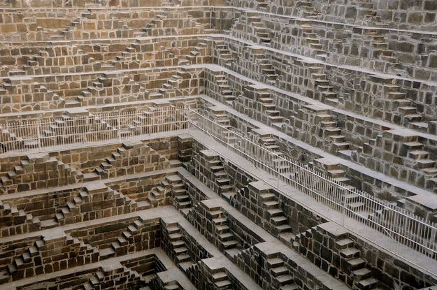 Chand Baori - Abhaneri, India  http://www.architectureartdesigns.com/25-places-that-dont-look-normal-but-are-actually-real/