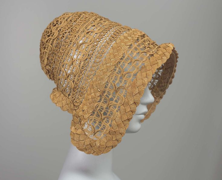 Straw bonnet, French, 1848. Museum of Fine Arts, nr. 51.2548
