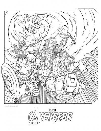 avenger coloring pages - Avengers Coloring Pages