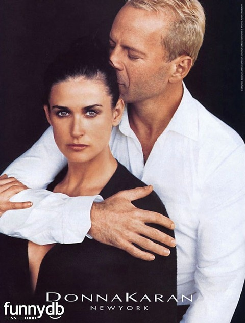 Demi Moore and Bruce Willis for Donna Karan: I really like them 2gether mostly