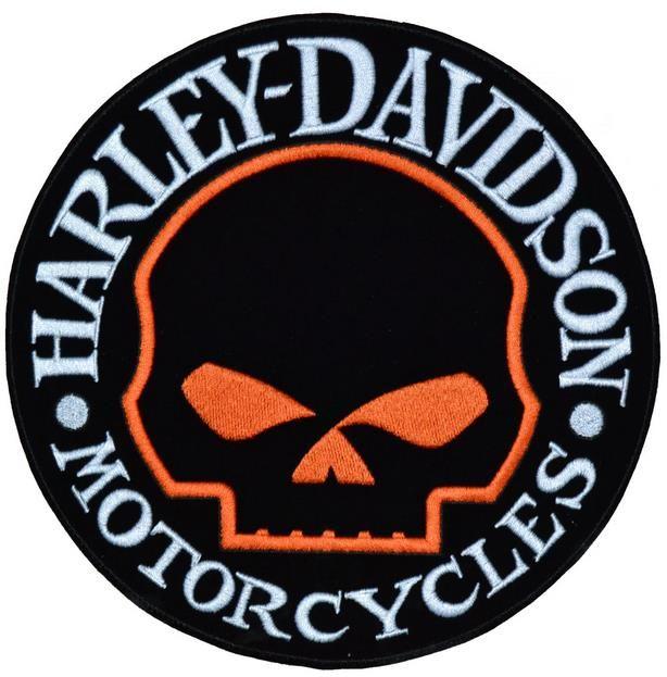 PARCHE HARLEY DAVIDSON SKULL ORANGE