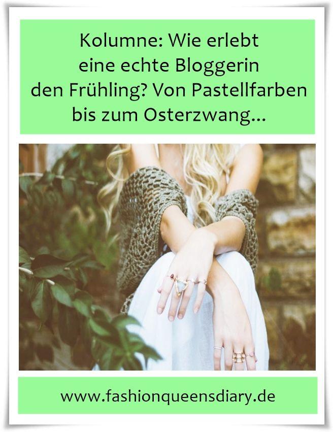 Blogger-Geschichte. Warum die typische Bloggerin im Frühjahr zu Pastellfarben greift und sich dem Osterzwang unterwirft.. Profitgier? Vielleicht...