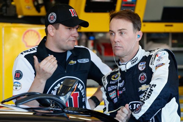 Kevin Harvick Photos Photos - Kevin Harvick, driver of the #4 Jimmy John's Chevrolet, talks to a crew member in the garage area during practice for the NASCAR Sprint Cup Series Good Sam 500 at Phoenix International Raceway on March 12, 2016 in Avondale, Arizona. - Phoenix International Raceway - Day 2