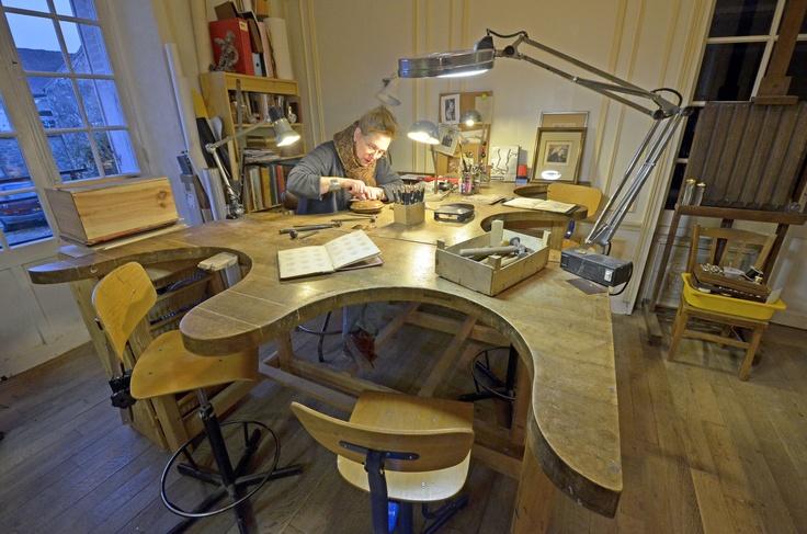 Ambiance atelier de gravure © Milochau http://milochau-france.over-blog.com/