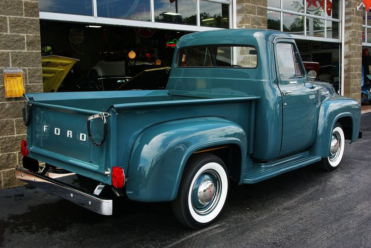 1954 Ford pickup truck.... looks like the one I took my first driving lessons in almost went off a bridge with a 15 ft. drop!