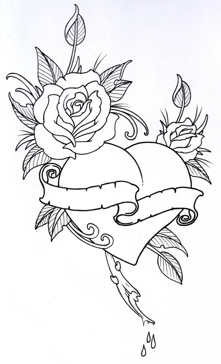 Coloring book outlines - Tattoo Outlines Google Search