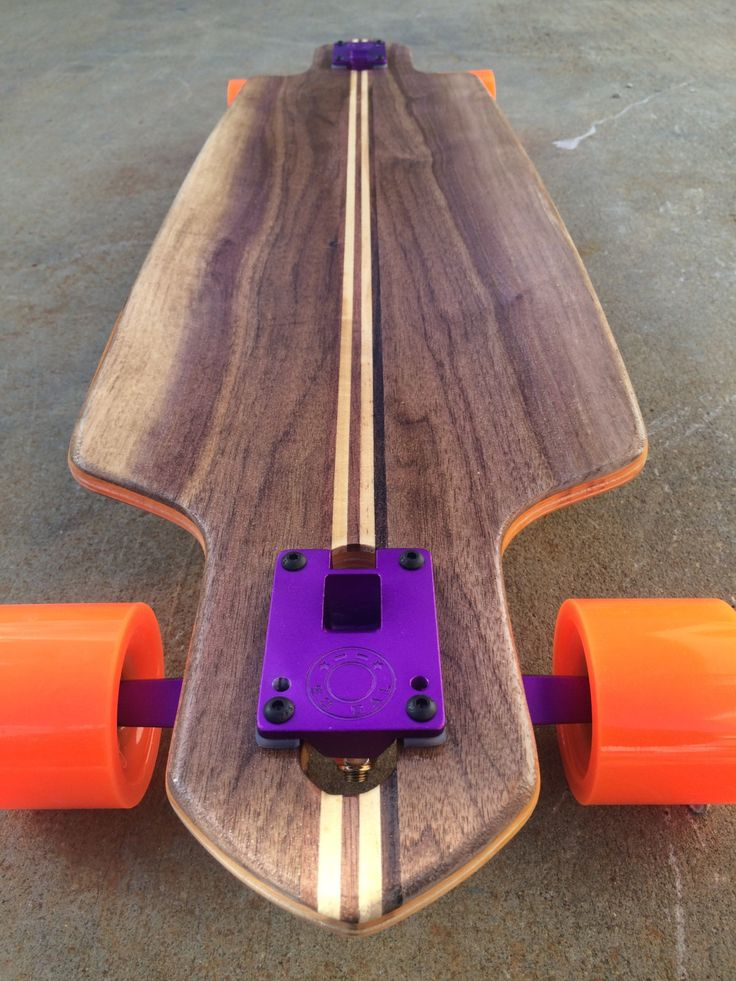 38 Special Drop Through Skateboard Longboard Handmade Walnut handcrafted one of a kind Ultimate holiday gift by EastCoastCustoms on Etsy