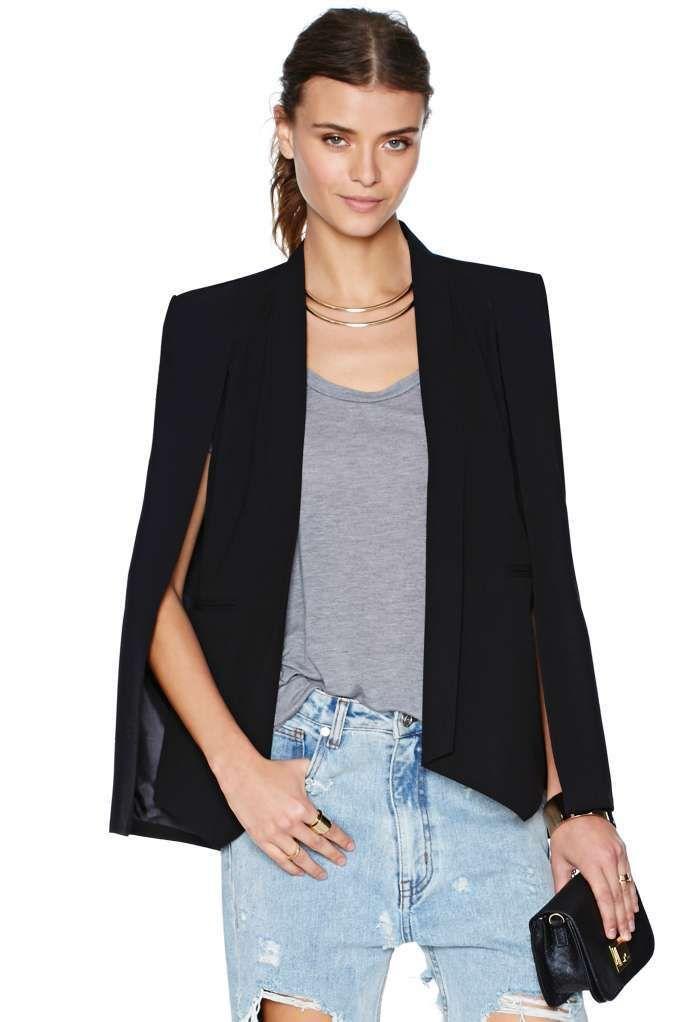 25  cute Cape jacket ideas on Pinterest | Cape, White cape blazer ...