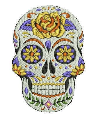 8 Best Sugar Skulls Embroidery Designs Images On Pinterest Machine