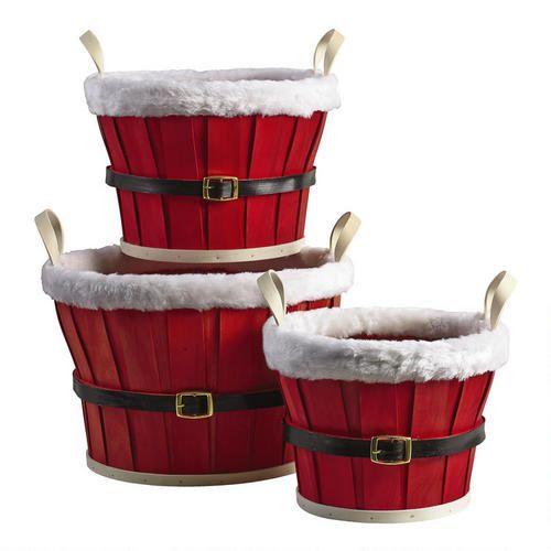 Santa Belt Basket | Christmas Tree Shops andThat!