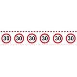 Absperrband Verkehrs Schild ZAHL 30