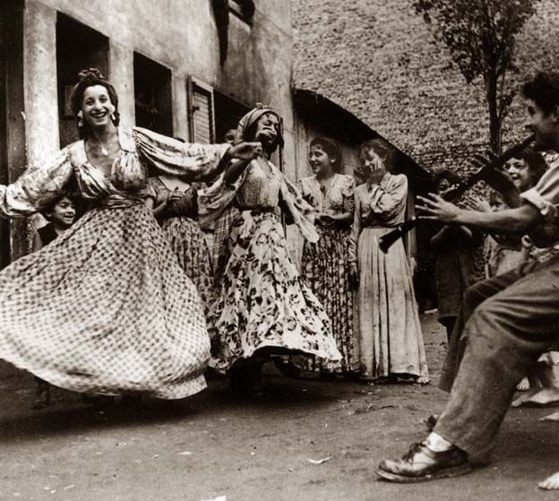 Roma dance in Parish 1945 via: My Bohemian History ajromale:  Roma Dance in Paris 1945