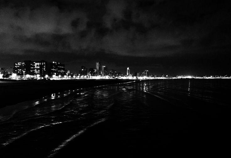 City lights- Durban skyline- moyo pier- love
