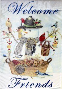 Snowman And Friends Winter Garden Flag By Evergreen. $5.99. Handcrafted  Made From Soft,