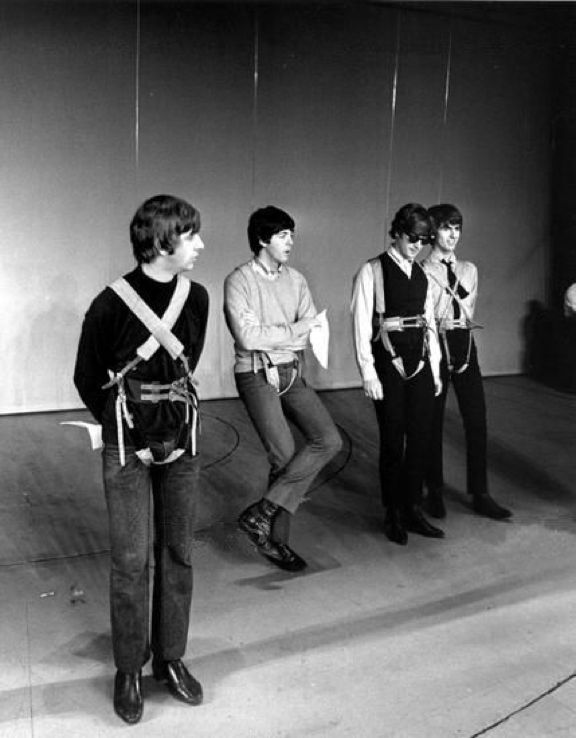 "#TheBeatles during rehearsals for ""The Night Of A Hundred Stars"" charity show at The London Palladium, 23th July 1964"