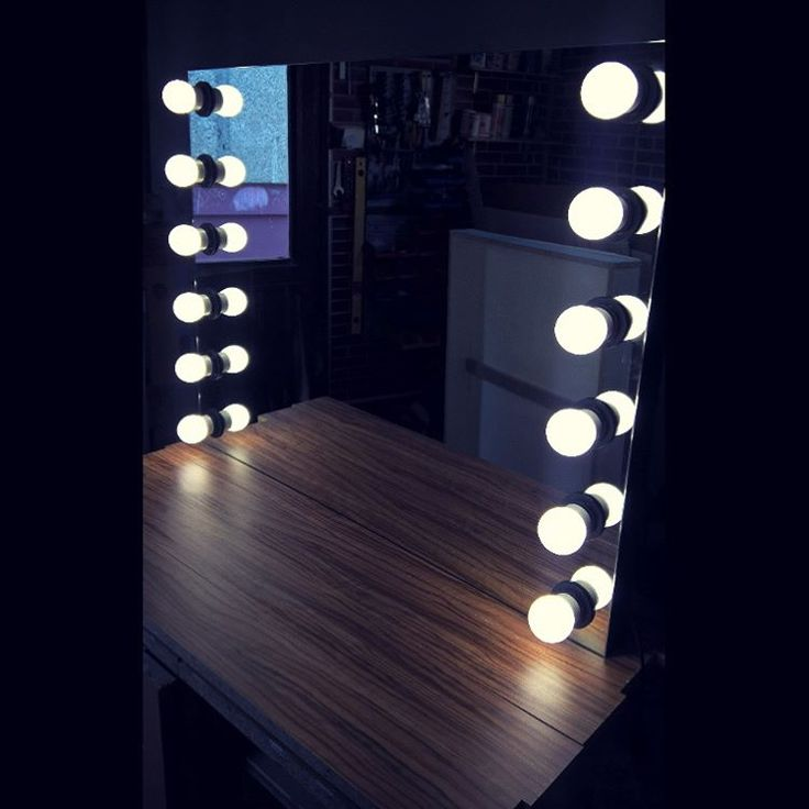 Another modern style makeup mirror from ZAP project workshop :) 70x90cm tile and 12 LED mirror lights http://zapproject.pl/