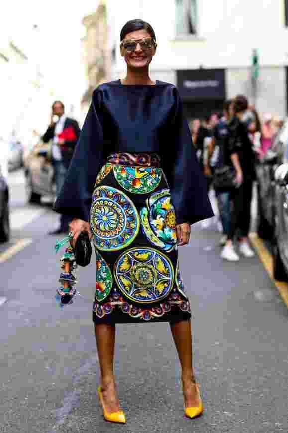 Страсти по Италии: образы гостей Недели моды в Милане в стритстайл-фотографиях