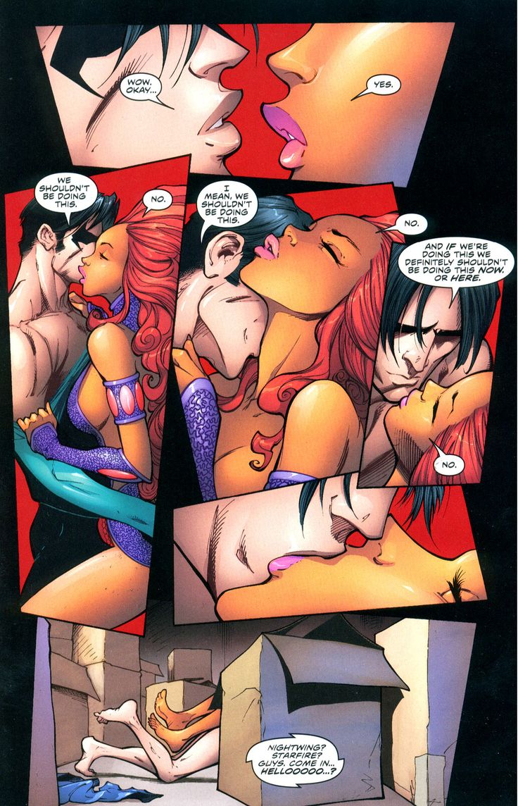 robin and starfire in bed naked sex