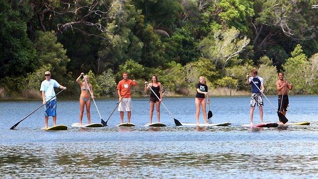 Paddle surfing Sunshine Coast, Queensland  #Australia