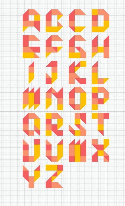 "Jiemei Lin's 2013 ""Tangram Font"""