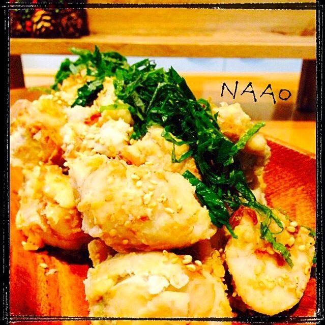 ♥️里芋消費に、副菜を作りました〜 梅と鰹節とゴマでサッパリ!でも、梅の酸味でつい食べてしまうサラダになりました♩