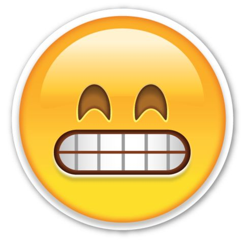 Grinning Face with Smiling Eyes | EmojiStickers.com