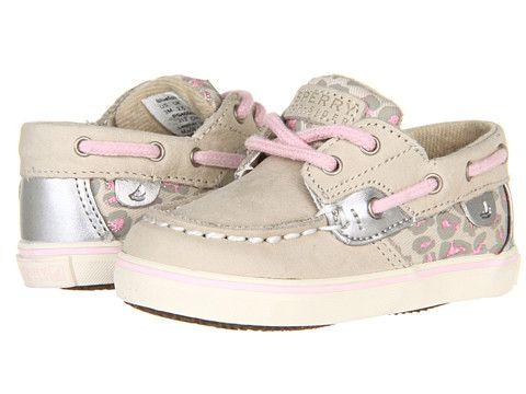 Sperry Kids Bluefish Prewalker (Infant) Silver Cloud/Pink Leopard - Zappos.com Free Shipping BOTH Ways