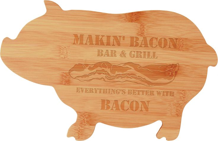 Bamboo Pig Shape Cutting Board — Minneapolis MN Awards and Trophy Shop Broadway Awards