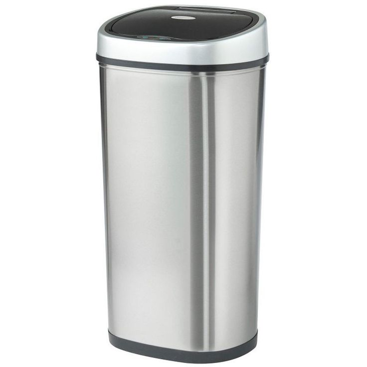 Recycle Bin Infrared Sensor Waste Bin Trash Can Large 50L Stainless Dustbin New
