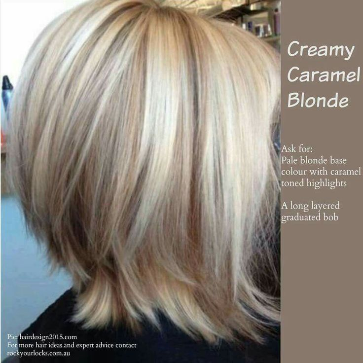 Creamy caramel blonde - pale blonde base, caramel toned highlights