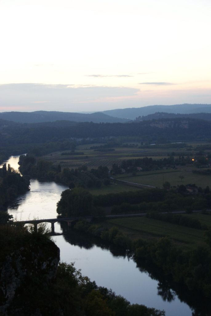 View from Domme across the Dordogne river