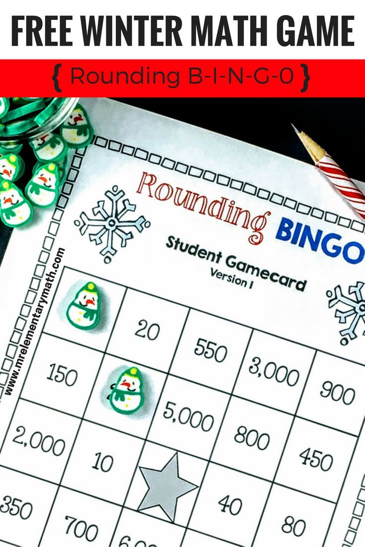 159 best math games images on pinterest math activities math reinforce number sense and rounding skills with winter edition rounding bingo this free math game fandeluxe Choice Image