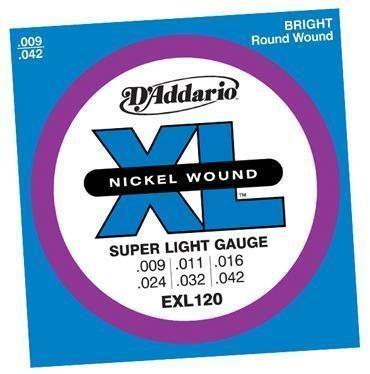 D'ADDARIO E-GITARREN SAITEN / EXL120 / .009-.042 / SUPER LIGHT € 6,62