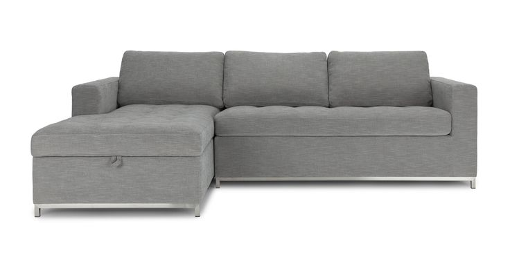 Soma Dawn Gray Left Sectional Sleeper Sofa - Sectionals - Article | Modern, Mid-Century and Scandinavian Furniture