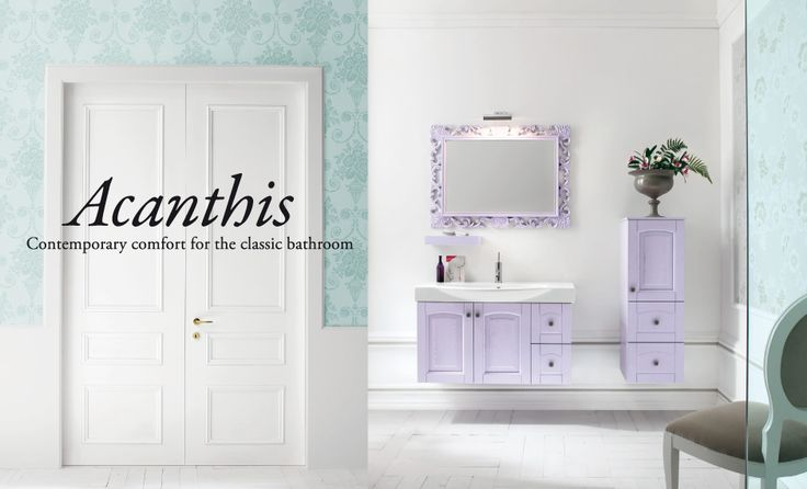 Acanthis - Compab  #mobili #riccelli #mobiliriccelli #collection #bagno #bathroom #furniture #design #interior #classic #home #indoor #comab #arredamento #casa #arredo #delicate #pastello