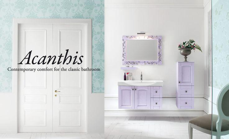 Acanthis - Compab  #mobili #riccelli #mobiliriccelli #collection #bagno #bathroom #furniture #design #interior #classic #home #indoor #comab #arredamento #casa #arredo #delicate #pastello