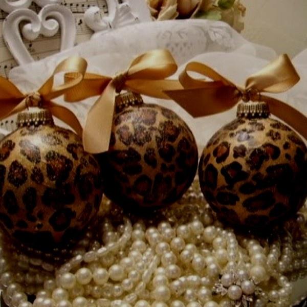 Modge podge & tissue paper Christmas ornaments