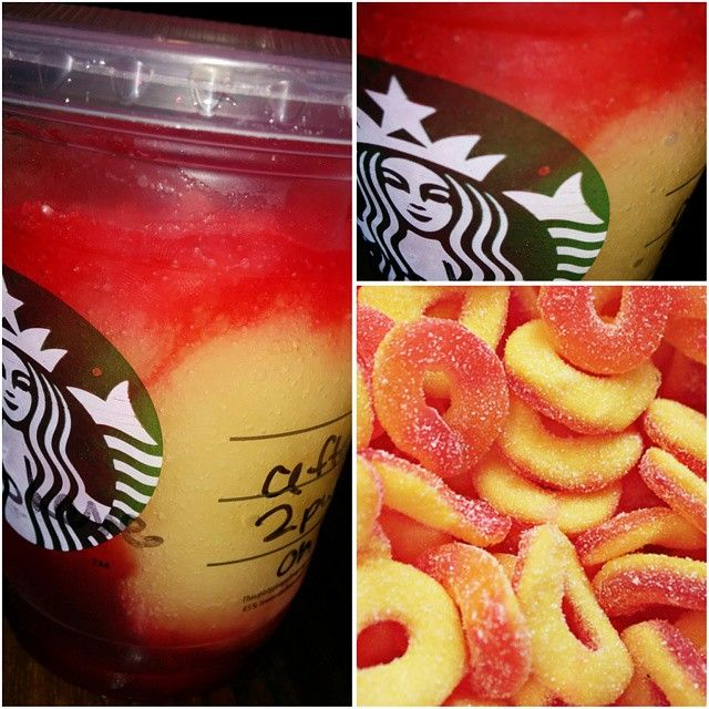 the *PEACH RING TEA REFRESHER* is a delicious & easy to order #Starbucks Refresher! Visit SecretStarbucks.com for more info