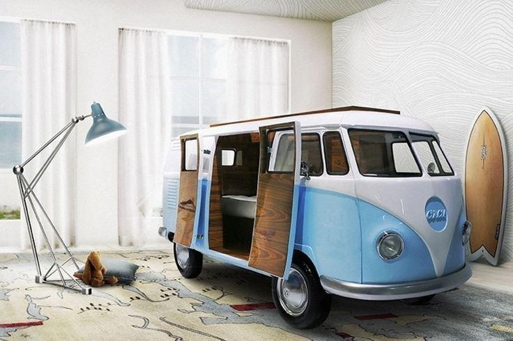 Nezabudnuteľný VW bus ako detská posteľ