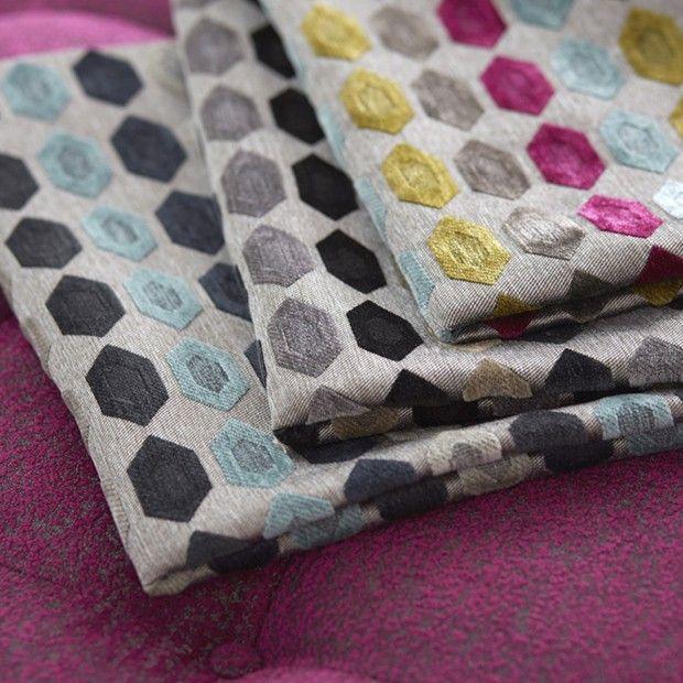 Warwick Fabrics: CERI Collection featuring Cezar diamond #diamond #fabric #upholstery #soft